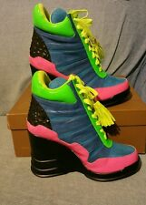 Privileged Teal Rally Wedge Sneaker New Multiple Sizes Privileged by J C Dossier
