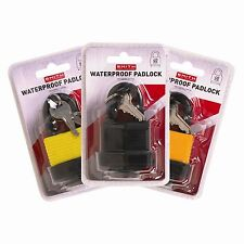 New 40MM PADLOCKS Waterproof Heavy Duty Outdoor Padlock With 2 Keys