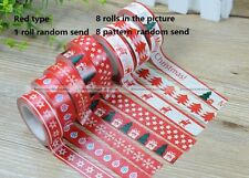1 Roll Washi Masking Tape Sticky Adhesive Decorative Craft Gift XMAS Sticker S2