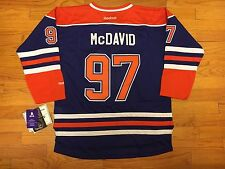Connor McDavid Edmonton Oilers # 97 NHL Youth Premier Stitched Team Home Jersey
