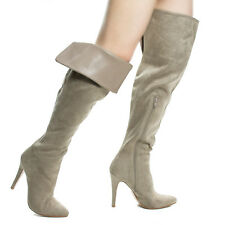 Sandra Foldable High Heel Stiletto OTK Over The Knee Thigh High Dress Boots