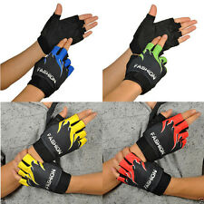 Gel Sport Bike Bicycle Cycling Half Finger Fingerless Antiskid Glove Flame Style