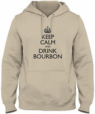 Men's Keep Calm And Drink Bourbon Hoodie Sweatshirt Drinking Sweater FREE S&H
