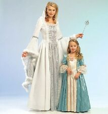 Colonial Princess costume PATTERN Miss 8-22 Kids 3-8 McCalls 5731 Snow Queen