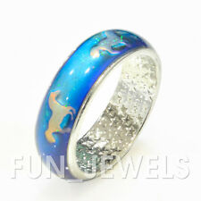 New Running Horse Design Mood Band Ring Multi Color Change Retro Free ColorChart