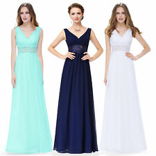 Ever Pretty V-Neck Long Bridesmaid Evening Formal Dresses Party Prom Gown 08854