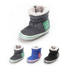 Toddler Baby Gril Boy Winter Warm Non-Slip Cotton Snow Boots Crib Shoes 3 Size