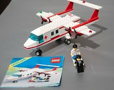 Vintage Lego Set 6356 COMPLETE Classic Town Med-Star Rescue Plane + Instructions