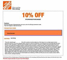 1 Home Depot 10%-Off-Coupon! Save up to $200!