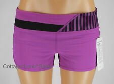 NEW LULULEMON Run Speed Short Ultra Violet Quilt Shorts Sz 6 8 10 NWT FREE SHIP
