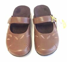 Orthaheel HANNAH CHOCOLATE SIZE 6 Mary-Jane Mules w/Arch Support