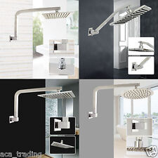 "ACA Square 8"" 10"" 12"" LED Slim shower head set Wall arm watermark WELS Luxury"