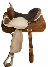 Double T Barrel Style Saddle Tooled Skirts Roughout Fenders,Jockeys Full QH Bars
