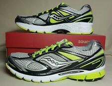 SAUCONY GUIDE 7 RUNNING WHITE/BLACK/CITRON NEW IN BOX S20227-5 MULTIPLE SIZES