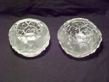 Two Fenton Frosted Satin Glass Water Lily Bowls