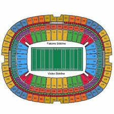 Atlanta Falcons vs Carolina Panthers, 2 Hard Tickets 10/2/16 - VWC Section 220