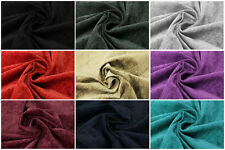 NEW LUXURY THICK CURTAIN/UPHOLSTERY CHENILLE VELVET FABRIC MATERIAL IN 9 COLOURS