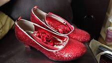 Girl's Red Sparkly Dorothy Shoes - Size 1
