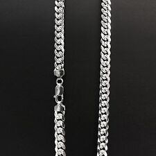 ITALY 925Sterling Silver Bombe Curb Chain Necklace-Miam Curb Chain-Solid Silver