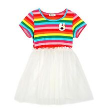 Toddler Baby Girl Rainbow Kids Dress Party Tutu Top Skirt Legging Outfit Clothes