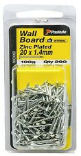 Paslode WALLBOARD NAILS 100g Zinc Plated Steel Aust Brand - 20x1.4mm Or 25x1.4mm