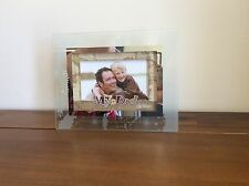 Dad My Hero Photo Frame Glass 3D Daddy Fathers Day Gift