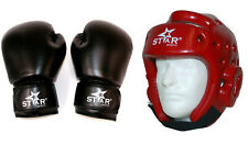 Martial arts Thai Boxing Training Gloves 8 1012 14 oz Boxing Head gear package