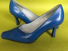 Fantastic  Blue Leather Shoes size 6 By Roberto Vianni , Perfect Wedding Shoes