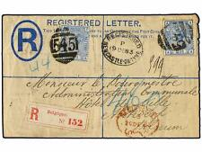 GREAT BRITAIN. 1883(Dec 19th). 2d registered postal stat