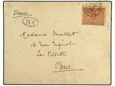 TURKEY. 1899. Cover to PARIS franked by 1898 20 pa. cl