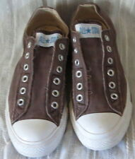 CONVERSE ALL STAR SNEAKERS NO LACES NEW BOX CAVIER BROWN SLIP ON CONVERSE NEW BX