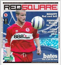 MIDDLESBROUGH HOME PROGRAMMES 2004 - 2010 - Choose from list
