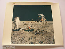 "Apollo 11 Aldrin Lunar Module EVA Red Serial # ""A Kodak Paper"" 8x10 NASA Photo `"