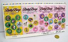 Betty Boop Collector Caps Pogs Uncut Sheet Signed