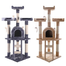 Cat Tree Post Scratcher Furniture Play House Pet Bed Kitten Toy New