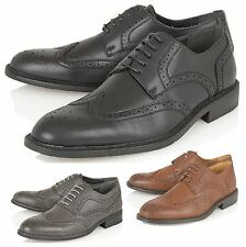 Mens office Formal Style Work Casual Lace Up Party Dress Brogue Shoes Size