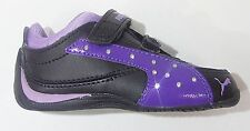 Puma Kids' Toddler Girl's DRIFT CAT 4 SHINY V Shoes Black/Purple 304516-02 a3