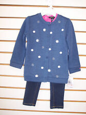 Toddler & Girls Nautica $59.50 Blue & Pink 3pc Jacket Outfit Sze 2T - 5
