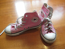 Girls Pink Converse Chuck Taylor All Star High Tops - Size 2
