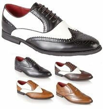 Mens Leather Lined Italian Formal Office Work Casual Brogues Shoes Boys Size