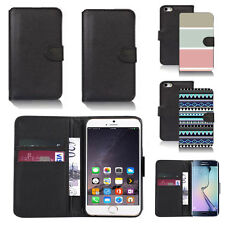 pu leather wallet case cover for many mobiles design ref q215