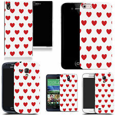pictoral case cover for most Popular Mobile phones - red white amore