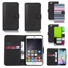 pu leather wallet case cover for apple iphone models design ref q84
