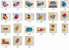 Fisher Price My First Dollhouse Bed Crib Couch Sink Bathroom Toilet Table Chairs