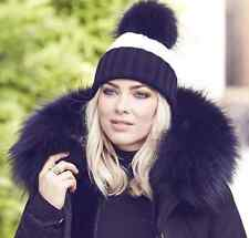 POPPY LONDON BLACK PARKA JACKET WITH RACCOON FUR COLLAR SMALL