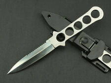 """US Military Utility Survival Hunting Tactical Full Tang Throwing Dive 8"""" Knife"""