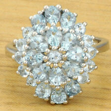 Aquamarine 2.30 Carat Natural Gemstone Ring In 925 Sterling Silver Jewelry