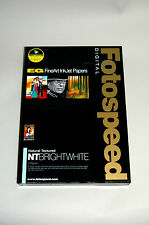 Fotospeed  Natural Textured BRIGHT WHITE Inkjet Photo Paper- 315gsm A3 50 sheets