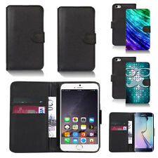 pu leather wallet case cover for many mobiles design ref q247