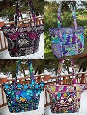 VERA BRADLEY Villager Tote Shopper Bag Purse Work Travel College